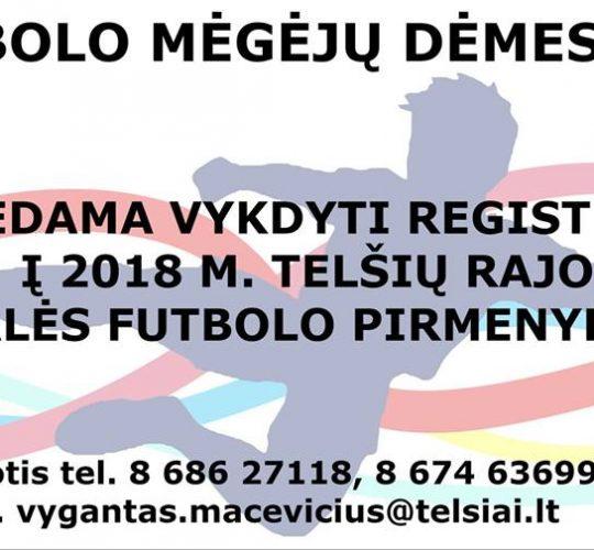 Vyksta registracija į Telšių raj. salės futbolo pirmenybes